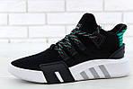 Чоловічі кросівки Adidas EQT Bask ADV (чорно-білі) 11591, фото 3