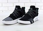 Чоловічі кросівки Adidas EQT Bask ADV (чорно-білі) 11591, фото 4