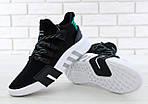 Чоловічі кросівки Adidas EQT Bask ADV (чорно-білі) 11591, фото 7