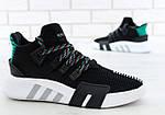 Чоловічі кросівки Adidas EQT Bask ADV (чорно-білі) 11591, фото 8