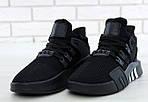Чоловічі кросівки Adidas EQT Bask ADV (чорні) 11590, фото 4