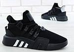 Чоловічі кросівки Adidas EQT Bask ADV (чорні) 11590, фото 6