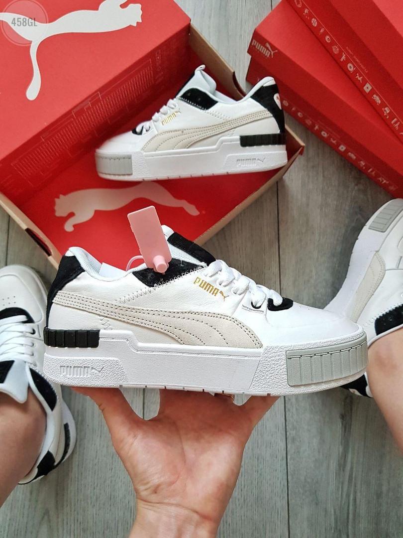 Жіночі кросівки Puma Cali Sport Mix White/Black (чорно-білі) 458GL