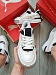 Жіночі кросівки Puma Cali Sport Mix White/Black (чорно-білі) 458GL, фото 4