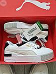Жіночі кросівки Puma Cali Sport Mix White/Black (чорно-білі) 458GL, фото 5