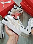 Жіночі кросівки Puma Cali Sport Mix White/Black (чорно-білі) 458GL, фото 6