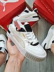 Жіночі кросівки Puma Cali Sport Mix White/Black (чорно-білі) 458GL, фото 7