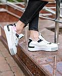 Жіночі кросівки Puma Cali Sport Mix White/Black (чорно-білі) 458GL, фото 9