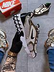 Чоловічі кросівки Nike Air Zoom Spiridon Cage 2 Stussy Pure Platinum Рефлективні (сріблясті) C-1928, фото 3