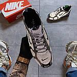 Чоловічі кросівки Nike Air Zoom Spiridon Cage 2 Stussy Pure Platinum Рефлективні (сріблясті) C-1928, фото 4