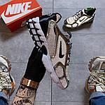 Чоловічі кросівки Nike Air Zoom Spiridon Cage 2 Stussy Pure Platinum Рефлективні (сріблясті) C-1928, фото 5