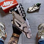 Чоловічі кросівки Nike Air Zoom Spiridon Cage 2 Stussy Pure Platinum Рефлективні (сріблясті) C-1928, фото 7