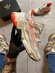 Жіночі кросівки Adidas Ozweego Adiprene White/Orange (біло-помаранчеві) C-1926, фото 4
