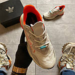 Жіночі кросівки Adidas Ozweego Adiprene White/Orange (біло-помаранчеві) C-1926, фото 10