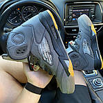 Мужские кроссовки Nike Air Jordan V Retro X Off-White (серые) C-1922, фото 4