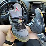 Мужские кроссовки Nike Air Jordan V Retro X Off-White (серые) C-1922, фото 5