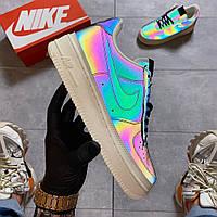 Женские кроссовки Nike Air Force 1 Low Reflective (разноцветные) C-1610
