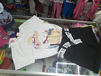 Летний подростковый костюм для девочки с модными шортами р.134 -158