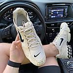Чоловічі кросівки Nike x Stussy Air Zoom Spiridon Cage 2 (бежеві) C-1918, фото 3