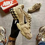 Чоловічі кросівки Nike x Stussy Air Zoom Spiridon Cage 2 (бежеві) C-1918, фото 4