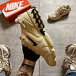 Чоловічі кросівки Nike x Stussy Air Zoom Spiridon Cage 2 (бежеві) C-1918, фото 6