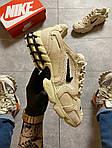 Чоловічі кросівки Nike x Stussy Air Zoom Spiridon Cage 2 (бежеві) C-1918, фото 7