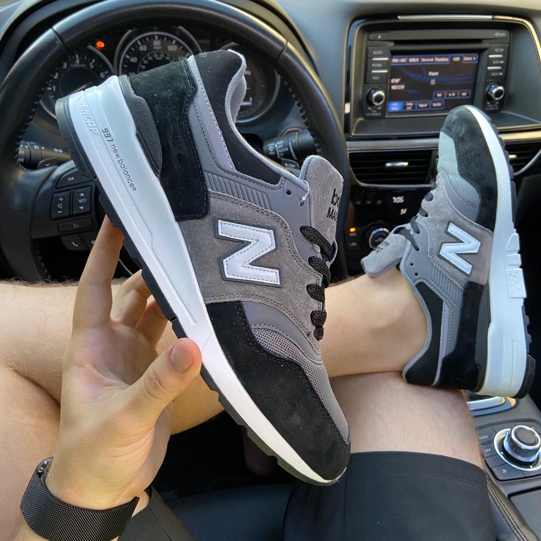 Мужские кроссовки New Balance 997 Black Gray (черно-серые) C-1916