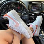 "Жіночі кросівки Nike Air Force 1 Low ""Digital Pink"" Adds Beige Soles (бежеві) C-1915, фото 2"