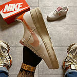 "Жіночі кросівки Nike Air Force 1 Low ""Digital Pink"" Adds Beige Soles (бежеві) C-1915, фото 4"