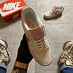 "Жіночі кросівки Nike Air Force 1 Low ""Digital Pink"" Adds Beige Soles (бежеві) C-1915, фото 5"