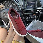 Жіночі кросівки Alexander McQueen Dark Red (бордові) C-1911, фото 8