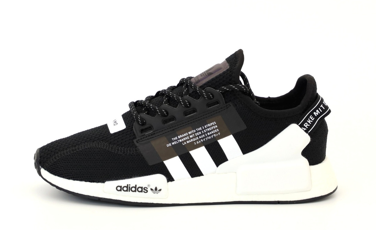 Чоловічі кросівки Adidas NMD R1 V2 Повний рефлектив (чорно-білі) 12174