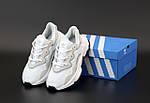 Женские кроссовки Adidas Ozweego Рефлективные (бело-черные) 12171, фото 4