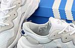 Женские кроссовки Adidas Ozweego Рефлективные (бело-черные) 12171, фото 7