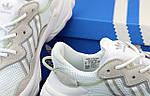 Жіночі кросівки Adidas Ozweego Рефлективні (біло-сірі) 12172, фото 7