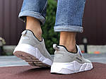 Мужские кроссовки Running (светло-серые с белым) 9573, фото 3
