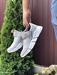 Мужские кроссовки Running (светло-серые с белым) 9573, фото 4