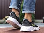 Чоловічі кросівки Running (темно-сірі з білим) 9574, фото 3
