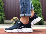 Мужские кроссовки Running (темно-синие с белым) 9575, фото 4