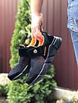Чоловічі кросівки Running (чорно-помаранчеві) 9576, фото 2