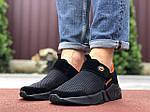 Чоловічі кросівки Running (чорно-помаранчеві) 9576, фото 4