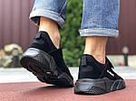 Чоловічі кросівки Running (чорні) 9578, фото 4