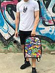 Городской рюкзак Антивор смайл (черный) 1257, фото 4