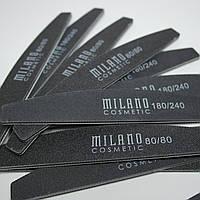 Пилочка для ногтей Milano Cosmetic 180/240 Professional а ассортименте Оригинал