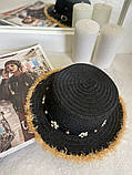 Женская красивая соломенная шляпа капелюх с лентой, в расцветках, фото 5