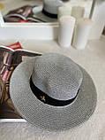 Женская красивая соломенная шляпа капелюх канотье с лентой, в расцветках, фото 2