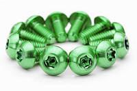 Болты Титановые для роторов, зеленые, 12 шт