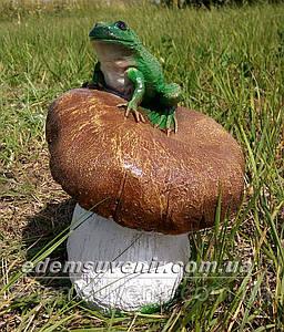 Садовая фигура Гриб с жабкой