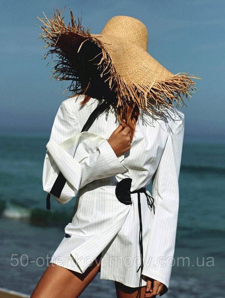 Женская шикарная соломенная шляпа капелюх с широкими полями, в расцветках