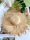 Женская шикарная соломенная шляпа капелюх с широкими полями, в расцветках, фото 5